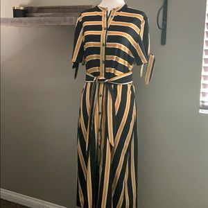 Who What Wear Stripe Midi Dress Worn Once